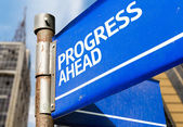 Progress Ahead sign — Stock Photo