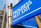Progress Next Exit  sign — Stock Photo