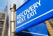Recovery Next Exit sign — Stockfoto