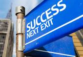Success Next Exit sign — Stock Photo