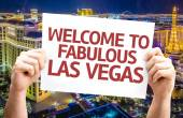 Welcome to Fabulous Las Vegas card — Stock Photo