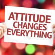 Attitude Changes Everything card — Stock Photo #64861605