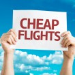 Cheap Flights card — Stock Photo #64865503