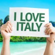 I Love Italy card — Stock Photo #64868369