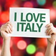 I Love Italy card — Stock Photo #64868411