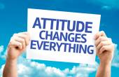 Attitude Changes Everything card — Stockfoto