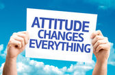 Attitude Changes Everything card — Stock Photo
