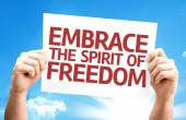 Embrace the Spirit of Freedom card — Stock Photo