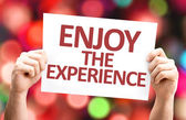 Enjoy the Experience card — Stock Photo