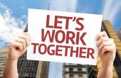 Let's Work Together card — Stock Photo