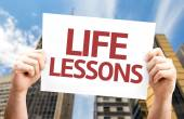 Life Lessons card — Stock Photo