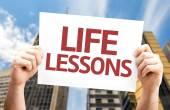 Carta di lezioni di vita — Foto Stock