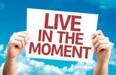 Live in the Moment card — Stock Photo
