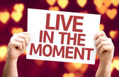 Live in the Moment card — Fotografia Stock