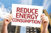 Reduce Energy Consumption card — Stock Photo