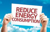 Reduce Energy Consumption card — Stock Photo
