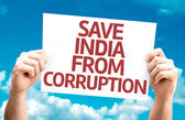 Save India From Corruption card — Stock Photo