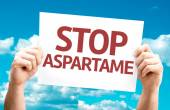 Stop Aspartame card — Stock Photo