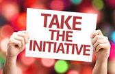 Take the Initiative card — Stock Photo