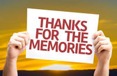 Thanks for the Memories card — Stock Photo