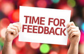 Time for Feedback card — Stock Photo