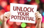 Unlock your Potential card — Stockfoto