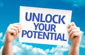 Unlock your Potential card — Stock Photo