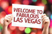 Welcome to Fabulous Las Vegas card — Stock Photo