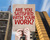 Are You Satisfied With Your Work? card — Stock Photo