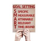Goal Setting  card — Stock Photo