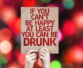 If You Can't Be Happy card — Stock Photo