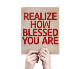 Realize How Blessed You Are card — Stock Photo