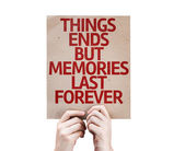 Memories Last Forever card — Stock Photo
