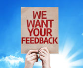 We Want Your Feedback card — Stock Photo