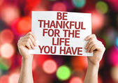 Be Thankful for the Life You Have card — Stock Photo