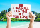 Be Thankful for the Life You Have card — Stockfoto