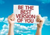 Be the Best Version of You card — Stock Photo