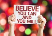 Believe You Can and You Will card — Stock Photo