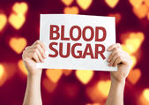 Blood Sugar card — Stock Photo