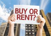 Buy or Rent? card — Stock Photo