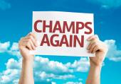 Champs Again card — Stock Photo
