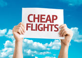 Cheap Flights card — Stock Photo