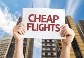 Cheap Flights card — Stock Photo