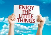 Enjoy the Little Things card — Stock Photo