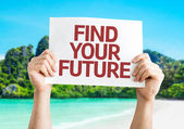 Find Your Future card — Foto de Stock