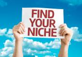 Find Your Niche card — Stock Photo