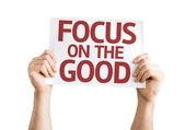 Focus on the Good card — Stock Photo