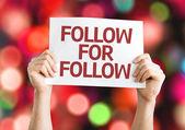 Follow for Follow card — Stock Photo