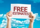 Free Estimates card — Stock Photo