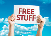Free Stuff card — Stock Photo